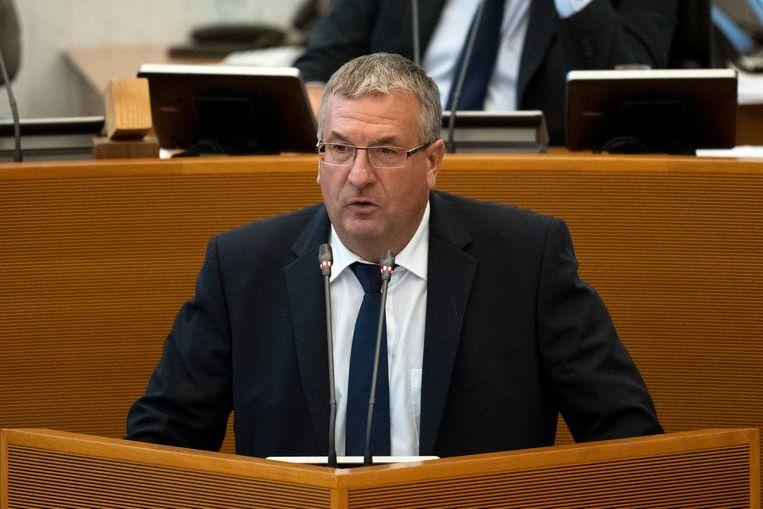 Pierre-Yves Jeholet (MR), de minister-president van de Franse gemeenschap.