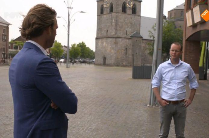 In Denekamp, in gesprek met Robert Jansen, statenlid van GroenLinks.