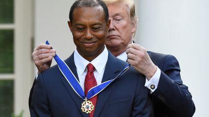 Tiger Woods krijgt Presidential Medal of Freedom uitgereikt