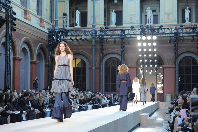 Modeshow van Sonia Rykiel tijdens Paris Fashion Week in 2017.