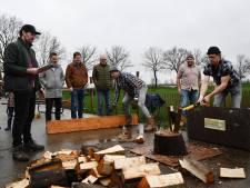 Finesse in houthakwedstrijd in Dongen bij team Got Wood