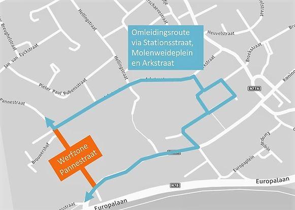 Tot aan het bouwverlof gaat een deel van de Pannestraat dicht.