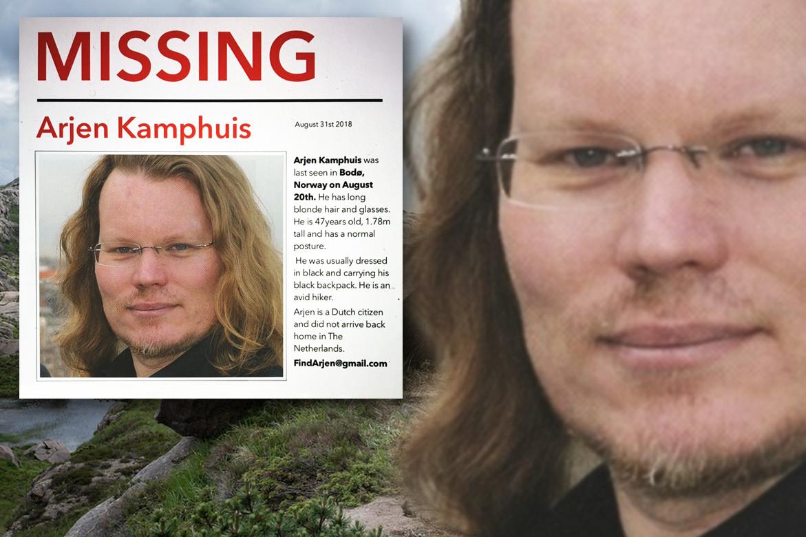 Het opsporingsbericht voor Arjen Kamphuis die vermist wordt in Noorwegen