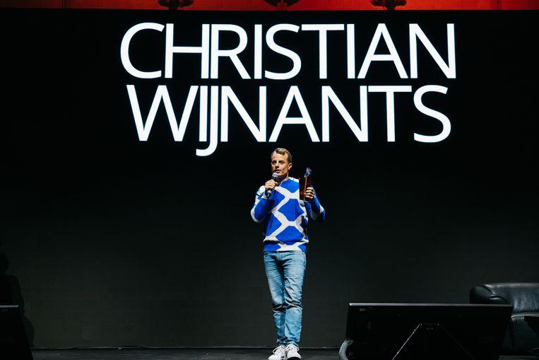 Christian Wijnants wint een Belgian Fashion Award. Beeld Fille Roelants