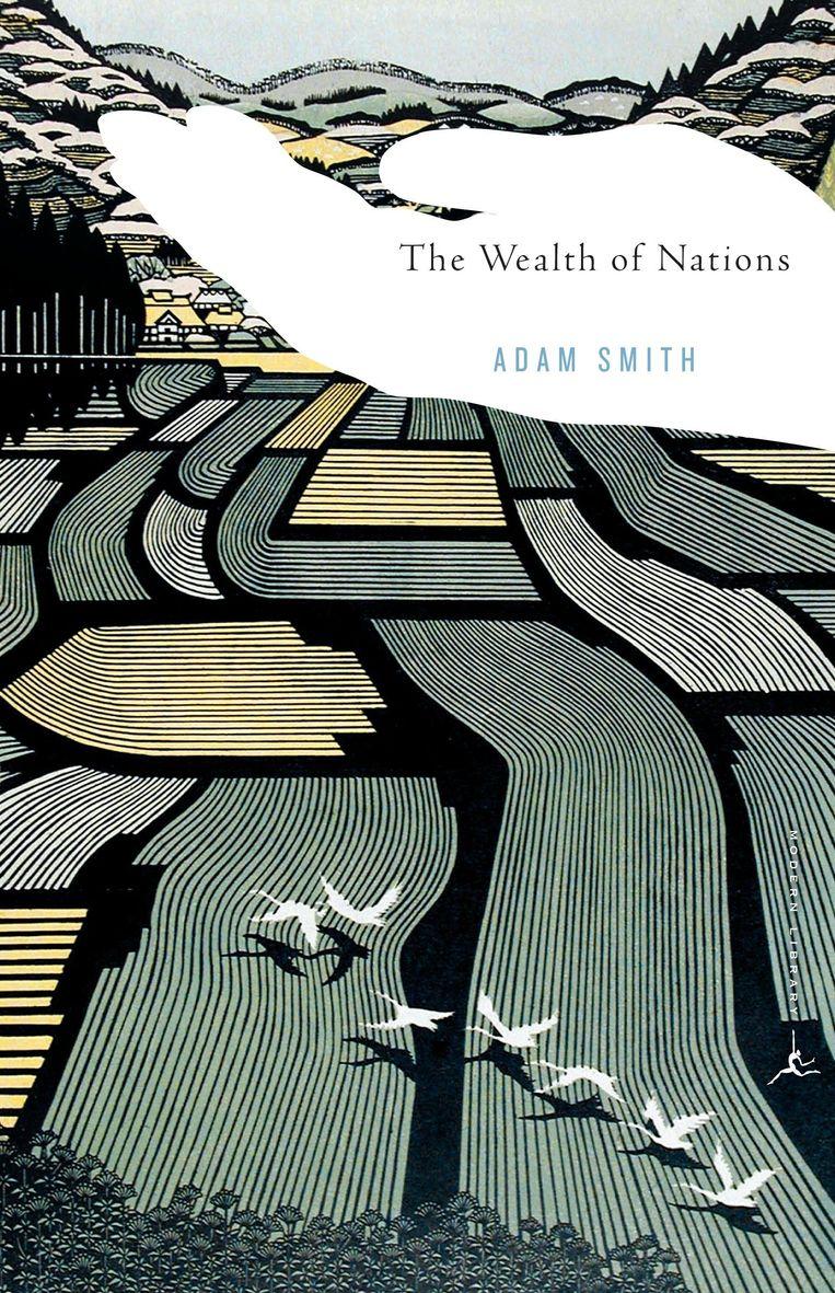 Adam Smith: The Wealth of Nations. Illustratie Ray Morimura. Ontwerp Emily Mahon. Penguin Random House/Modern Library, 2000. Beeld