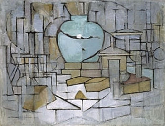 Mondriaan, Still Life With Ginger Pot.