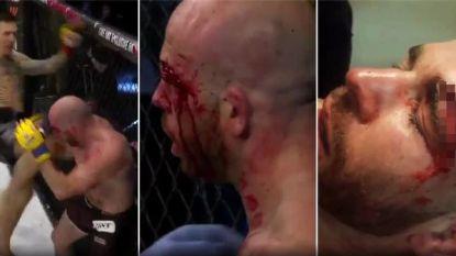 Niet voor de gevoelige kijker: MMA-vechter loopt na kniestoot afgrijselijk gapende wonde op aan wenkbrauw