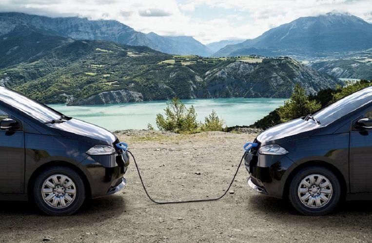 Mijn toekomstige auto. De Sono Sion kan stroom leveren aan een andere auto, aan mijn huis of het net. Beeld Sono Motors