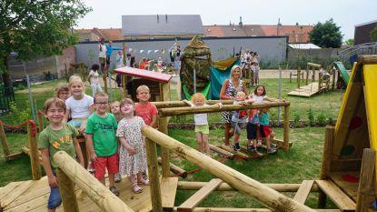 Speelplaats van gemeenteschool 't Lombartje krijgt Fins tintje, leerlingen kunnen er zelfs kampen bouwen