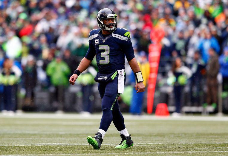 Seahawks-quarterback Russell Wilson. Beeld afp