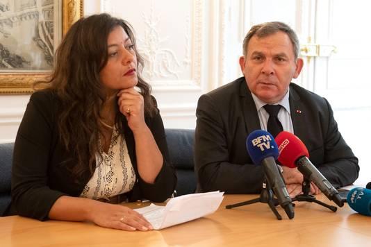 Sandra Muller et son avocat Francis Szpiner