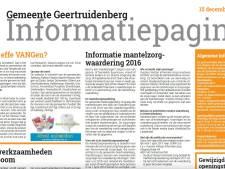 Gemeentenieuws Geertruidenberg voortaan in Het Kanton