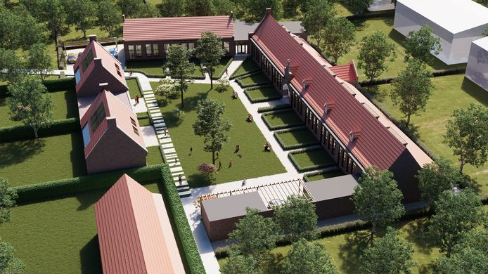 Een impressie van de herontwikkeling van de voormalige Molenvenschool in Vught.