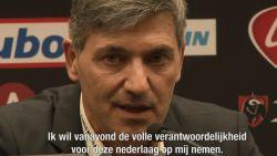 "Ongeziene mea culpa na 6-0 op Club: ""Ik heb mijn spelers fout opgesteld"""