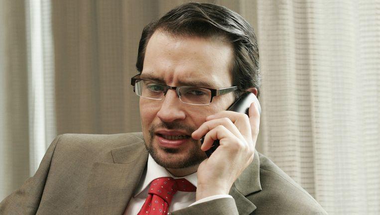 Archieffoto van Jeroen Spitzenberger. Hier als minister Karel Bijl in een comedyserie van de VPRO. Foto ANP Beeld
