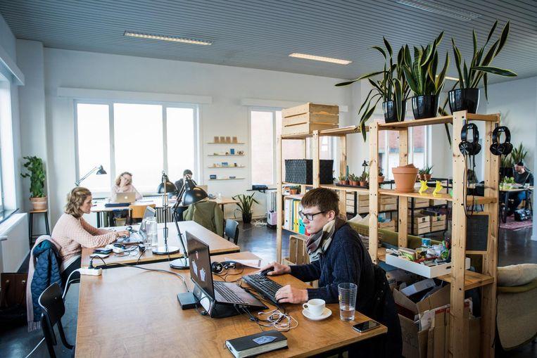 Binnen krijgen ondernemers een mooie werkplek.
