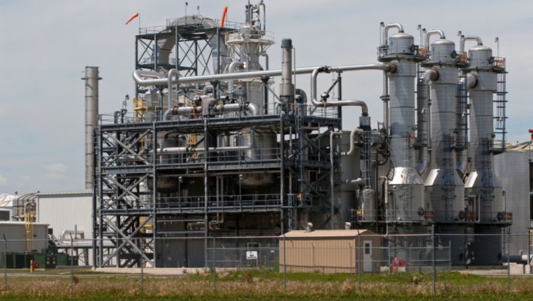 Een productiefaciliteit voor biobrandstof ethanol.