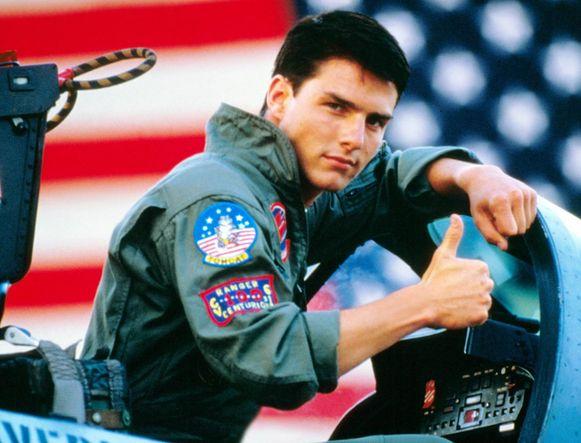 Tom Cruise speelde de held Maverick in 'Top Gun'