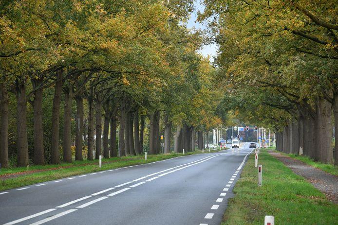 Een lege Enschedesestraat, oude N18.