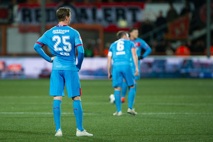 VOLENDAM, 07-12-2018 , Volendam - Twente , Dutch Football , Kras Stadion , season 2018 / 2019 , Keuken Kampioen Divisie , Twente player Peet Bijen dejected after (1-1) during the match Volendam - Twente (1-2)