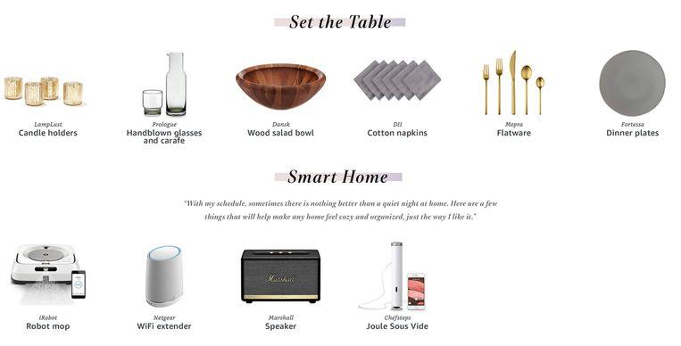 En als laatste volgden ook de categorieën 'tafelaankleding' en 'slim wonen'.