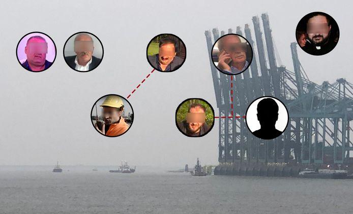 Verschillende leden van de familie Y. werden vorige week al opgepakt. Bovenaan de vier clanhoofden Sahin Y. (52), Muhsin Y. (48), Dikran Y. (62) en Can Y. (71). Dikrans zoon Marsin Y. (30), onderaan links, werkte als planner bij DP World in de haven. Van Cans zoon en kopstuk Bayram Y. (38, rechts onderaan) is geen beeld, wel van zijn broer Corc Y. (midden). Ook de priester van de gemeenschap, Ardhil S., was op de hoogte van de zaken van de familie.