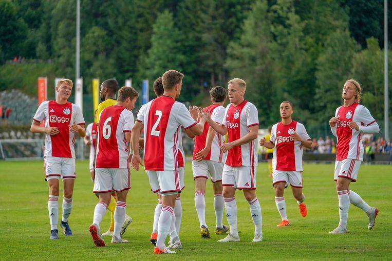 Ajax in actie tegen Watford op 18 juli jongstleden. Beeld BSR Agency