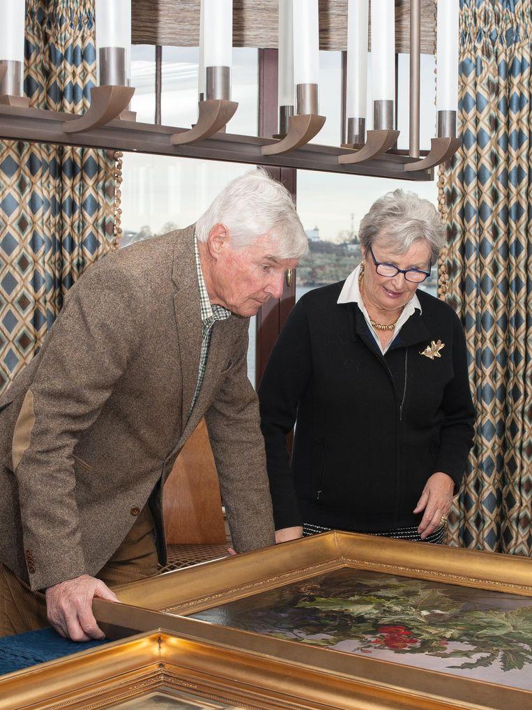 Eijk en Rosemarie de Mol van Otterloo in hun huis in Massachusetts. Beeld Lydo Le
