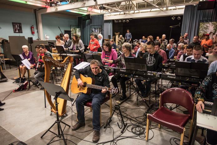 Repetitie van de Rimboband in Deurne.