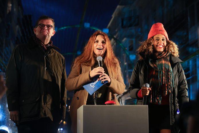 Bart Tommelein, Katja Retsin en Tatyana Beloy.