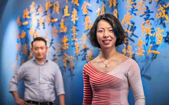 Zheng, het nieuwe restaurant van Han (links op de achtergrond) en zijn vrouw Ting.(Den Haag 21-06-18) Foto:Frank Jansen