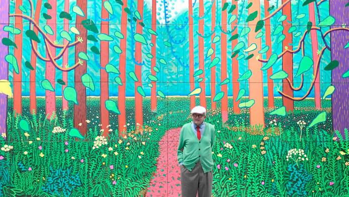 Het schilderij Arrival of Spring wordt in beeld en geluid tot leven gebracht op het Museumplein.