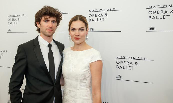 Anna Drijver met partner Benja Bruijning.