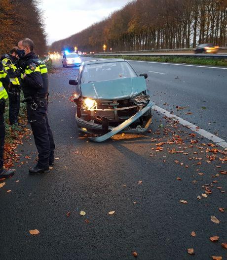 Spookrijder veroorzaakt ongeval op A18 bij Varsseveld, bestuurster aangehouden
