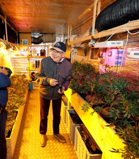 Container vol wietplanten leert bewoners de gevaren van een hennepkwekerij