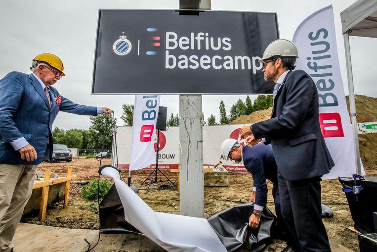 Het belfius Basecamp wordt al gebouwd in Knokke. Straks ook het stadion? Volgens burgemeester Lippens zijn er geen concrete plannen op dit moment