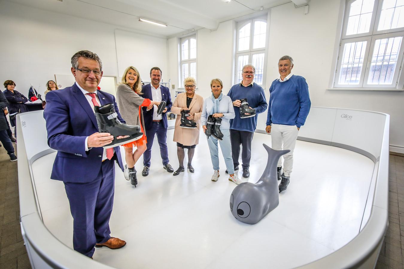 Brugge voorstelling nieuwe schaatspiste zonder ijs