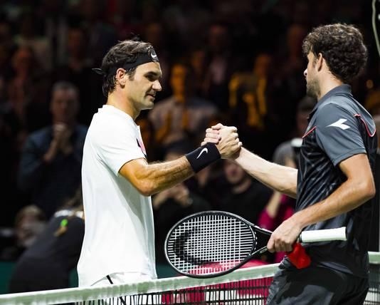 Robin Haase verloor vorig jaar tijdens het ABN Amro Tennis Tournament van Roger Federer in de kwartfinale. Daardoor werd de Zwitser weer de nummer één van de wereld.