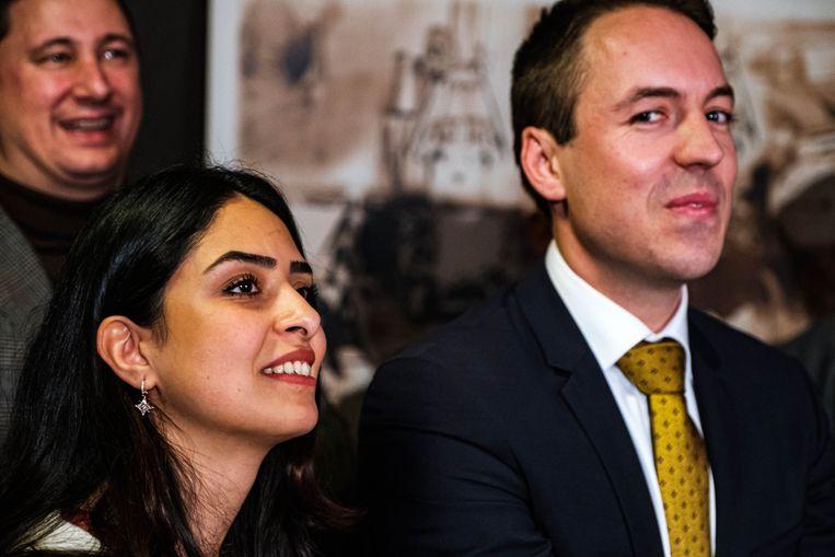 Sam van Rooy met zijn Iraanse vriendin Yalda.