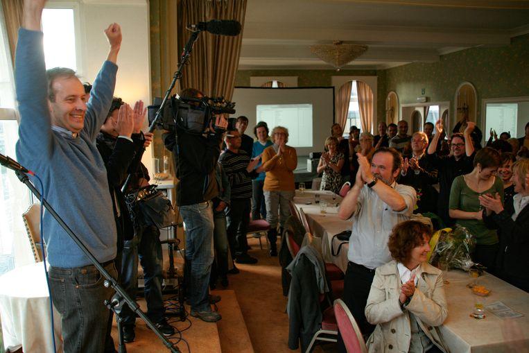 Zondag 14 oktober 2012, morgen exact zes jaar geleden: Lieven Dehandschutter wint met N-VA de verkiezingen in Sint-Niklaas en wordt voor de eerste keer burgemeester.