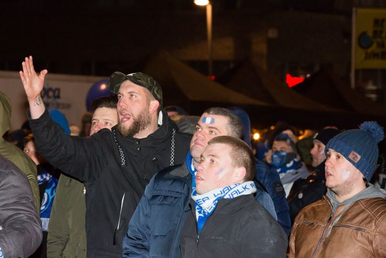 Supporters in Genk.