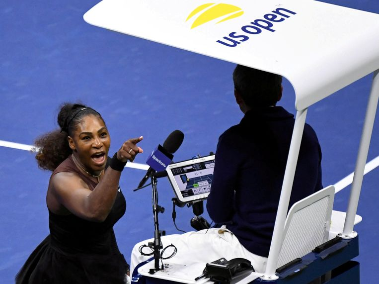 Tijdens de finale van de US Open in 2018 vocht Williams mening robbertje uit met de umpire.