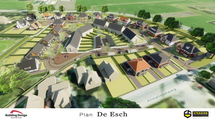 Zo ziet het bouwplan voor De Esch er uit.