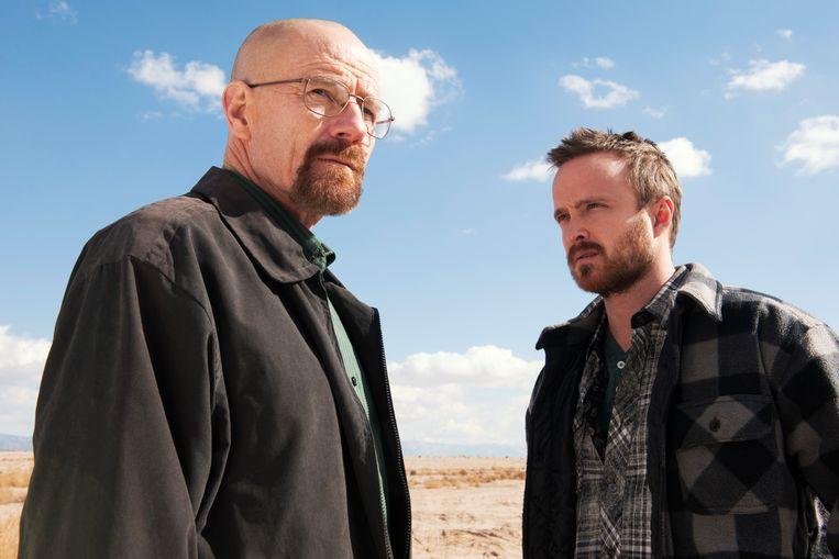 Walter White en Jesse Pinkman, de twee hoofdfiguren uit 'Breaking Bad'.