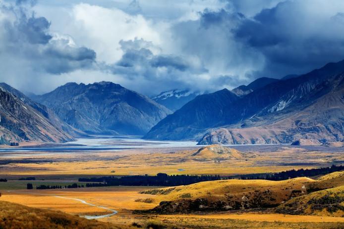 Mount Sunday in Nieuw-Zeeland.