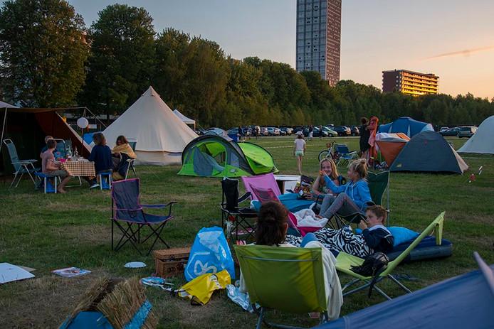 De buurtcamping in Tilburg.