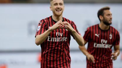 Milan swingt voorbij Bologna, Saelemaekers treft eerste keer raak