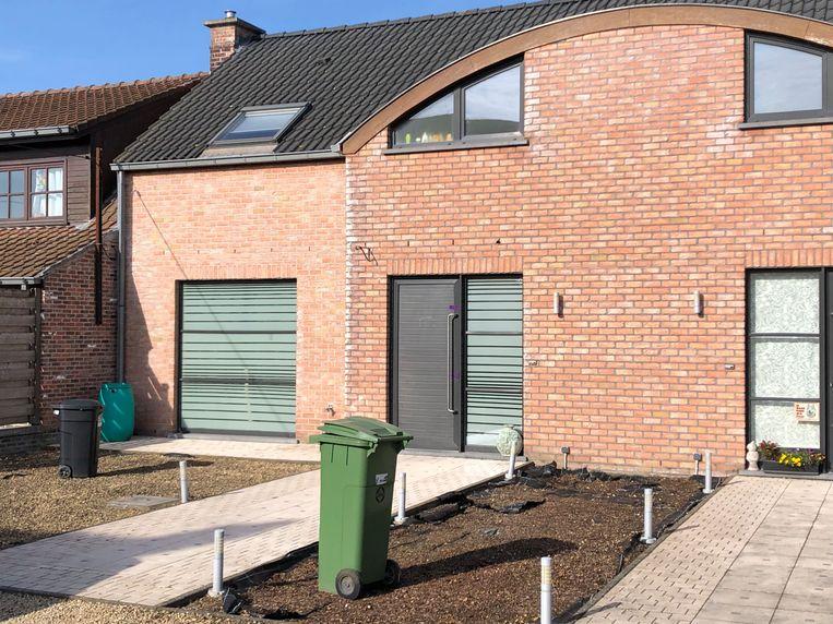 De woning van het echtpaar in Oordegem.