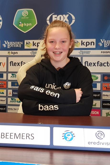 Isa (14) is voor één dag de grote baas bij De Graafschap: 'Zo'n kans krijg je normaal nooit'