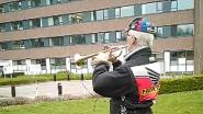 Mooi moment: man geeft eerbetoon met trompet aan medewerkers van AZ Nikolaas